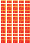 Greater Manchester Flag Stickers - 65 per sheet